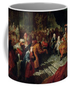 Louis Xiv 1638-1715 Receiving The Persian Ambassador Mohammed Reza Beg In The Galerie Des Glaces Coffee Mug