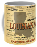 Louisiana State Pride Map Silhouette  Coffee Mug