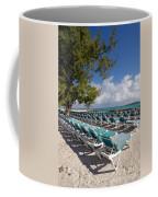 Lounge Chairs On The Beach Coffee Mug by Amy Cicconi