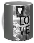 Love- Abstract Painting Coffee Mug by Linda Woods