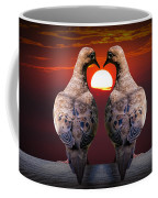 Love Dove Birds At Sunset Coffee Mug