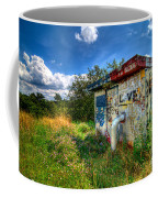 Love Graffiti Covered Building In Field Coffee Mug
