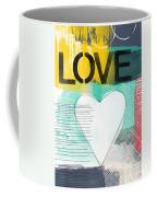 Love Graffiti Style- Print Or Greeting Card Coffee Mug