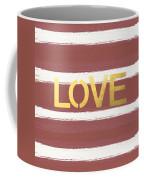 Love In Gold And Marsala Coffee Mug