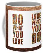 Love In Life Acrylic Palette Knife Painting Coffee Mug