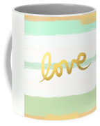 Love In Mint And Gold Coffee Mug