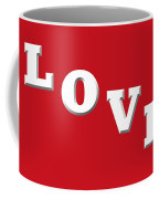Love In White On Red Coffee Mug