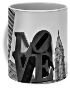 Love Is Just Black And White Coffee Mug