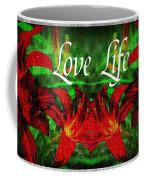 Love Life Mirrored Lilies Coffee Mug