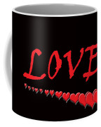 Love On Black Coffee Mug