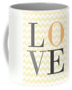 Love On Chevron Peach Coffee Mug