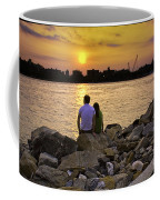 Love On The Rocks In Brooklyn Coffee Mug by Madeline Ellis