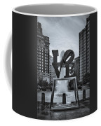 Love Park Bw Coffee Mug by Susan Candelario