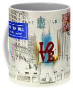 Love Park Post Card Coffee Mug