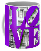 Love Philadelphia Purple Coffee Mug