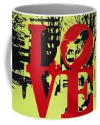 Love - Red On Lime Coffee Mug