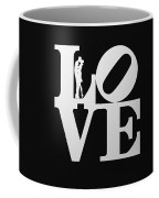 Love Typography And Kissing Couple Coffee Mug