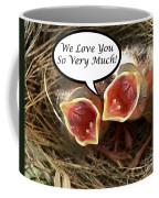 Love You Greeting Card Coffee Mug