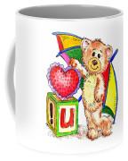 Love You Teddy Bear Coffee Mug