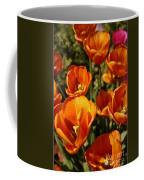 Lovely Burnt Orange Tulips Coffee Mug