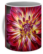 Lovely In Purple And Red - Dahlia Coffee Mug