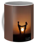 Lovers And Setting Sun Coffee Mug