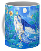 Lovers And Sunflowers  After Marc Chagall  Coffee Mug