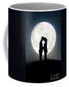 Lovers In Front Of A Full Moon Coffee Mug