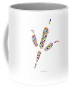 Low Poly Raven Footprint Coffee Mug