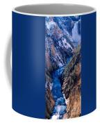 Lower Falls Into Yellowstone River Coffee Mug