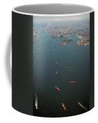 Lower Manhattan And New York Bay Coffee Mug