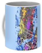 Lower Manhattan Map Coffee Mug