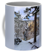Lower Yellowstone Falls In October Coffee Mug