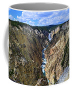 Lower Yellowstone Falls Panorama Coffee Mug