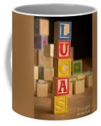 Lucas - Alphabet Blocks Coffee Mug