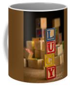 Lucy - Alphabet Blocks Coffee Mug