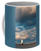 Ludington North Breakwater Lighthouse At Sunrise Coffee Mug