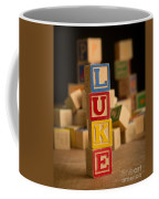Luke - Alphabet Blocks Coffee Mug