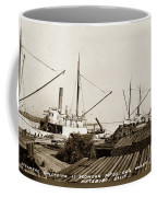 Lumber Steamers Unloading At Redwood Mfg. Co.s Wharf Pittsburg Circa 1920 Coffee Mug