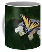 Luminous Butterfly On Lacecap Hydrangea Coffee Mug