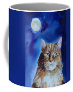 Lunar Cat Coffee Mug