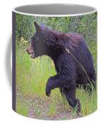 Lunging Black Bear Near Road In Grand Teton National Park-wyoming   Coffee Mug