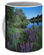 Lupin And Lake Coffee Mug