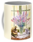 Lupins On Windowsill Coffee Mug