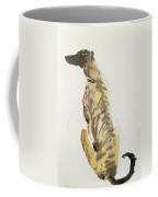 Lurcher Sitting Coffee Mug by Lucy Willis