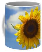 Lus Na Greine - Sunflower On Blue Sky Coffee Mug