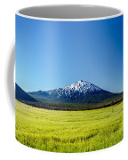 Lush Green Meadow And Mount Bachelor Coffee Mug