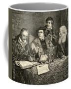Luther Melancthon Pomeranus And Cruciger Translating  Coffee Mug