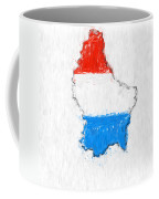 Luxembourg Painted Flag Map Coffee Mug