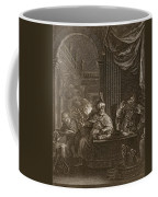 Lycaon Metamorphosed Into A Wolf, 1731 Coffee Mug